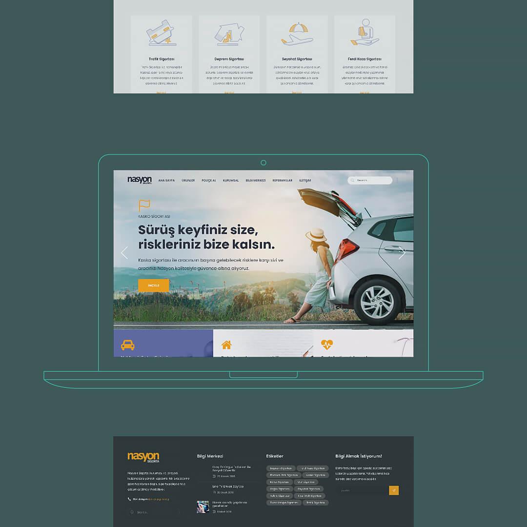 Nasyon Sigorta – Web Sitesi